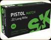 SK - 22 LR - 40 Gr - Pistol Match - 50ct - 420114