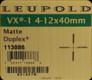 Leupold - VX-1 - 4-12x40mm - Matte - Duplex