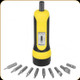 Wheeler - Fat Torque Wrench Screwdriver - 10 bits - 553556