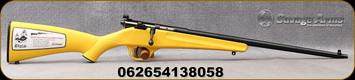 "Savage - 22LR - Rascal - Youth Single Shot - Bolt Action Rifle - Yellow Synthetic Stock/Blued Finish, 16.25"" Barrel, Mfg# 13805"