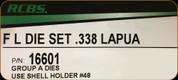 RCBS - Full Length Die Set - 338 Lapua - 16601