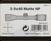Nikon - Prostaff II - 3-9x40 - Matte Nikoplex