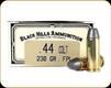 Black Hills - 44 Colt - 230 Gr - Flat Nose Lead - 50ct