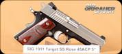 """SIG - 45ACP - 1911 C3 - Wood/Blk/SS, 4.25"""""""