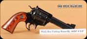 """Ruger - 44Spl - New Model Blackhawk Bisley Flattop - SA Revolver - Rosewood/Blued, 4 5/8""""Barrel, Built on 357 frame, Mfg# 05236"""