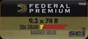 Federal - 9.3x74R - 286 Gr - Cape-Shok - Barnes Banded Solid - 20ct - P9374D