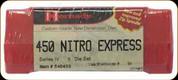 Hornady - Full Length Dies - 450 Nitro Express - 3 Die Set - 546433
