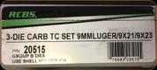 RCBS - 3 Die Carbide Pistol Set - 9mm Luger - 20515