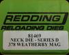 Redding - Neck Sizing Die - 378 Wby Mag - 81469