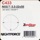 NIGHTFORCE - NXS - 5.5-22x50 - ZeroStop - .250 MOA - MOAR - C433