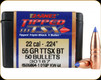 Barnes - 22 Cal - 55 Gr - TTSX - (Tipped Triple-Shock X) - Boat Tail - 50ct - 30187