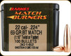 Barnes - 22 Cal - 69 Gr - Match Burner - Boat Tail - 100ct - 30162
