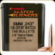 Barnes - 6mm - 105 Gr - Match Burner - Boat Tail - 100ct - 30206