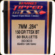 Barnes - 7mm - 150 Gr - TTSX (Tipped Triple-Shock X) - Boat Tail - 50ct - 30303