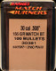 Barnes - 30 Cal - 155 Gr - Match Burner - Boat Tail - 100ct - 30381