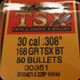 Barnes - 30 Cal - 168 Gr - TSX (Triple-Shock X) - Boat Tail - 50ct - 30351