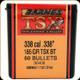 Barnes - 338 Cal - 185 Gr - TSX (Triple-Shock X) - Boat Tail - 50ct - 30408