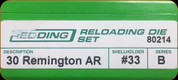 Redding - Full Length Sets - 30 Remington AR - 80214