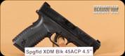 "Springfield - 45ACP - XDM - Blk, 4.5"", c/w 10 rd magazine"