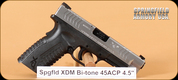 """Springfield - 45ACP - XDM - Blk/SS Bi-tone, 4.5"""""""