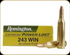 Remington - 243 Win - 80 Gr - Power-Lokt - Hollow Point - 20ct - 21319
