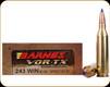 Barnes - 243 Win - 80 Gr - VOR-TX - TTSX Boat Tail - 20ct - 21522