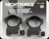 "NIGHTFORCE - XTRM - Ring Set - 1.265"" Intermediate - 30mm - Ultralite - 4 Screw - A108"