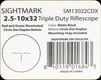 Sightmark - 2.5-10x32 - Triple Duty Riflescope - Matte - Red/Grn illuminated Circle Dot Duplex