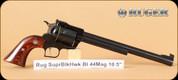 """Ruger - 44Mag - New Model Super Blackhawk Standard - SA Revolver - Hardwood Grips/Blued, 10.5""""Barrel, Mfg# 00807"""