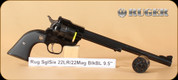 "Ruger - 22LR/22WMR - Single Six - Black/Blued, 9.5""Barrel - Mfg# 0624"