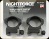 "NIGHTFORCE - XTRM - Ring Set - 1.125"" High - 30mm - Ultralite - 4 Screw - A107"