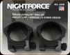 "NIGHTFORCE - XTRM - Ring Set - 1.0"" Medium - 34mm - Ultralight - 6 Screw - A208"