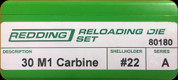 Redding - Full Length Sets - 30 M1 Carbine - 80180