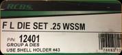 RCBS - Full Length Dies - 25 WSSM - 12401