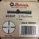 Burris - Scout - 2.75x20mm - Heavy Plex Matte Black - 200269