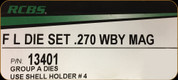 RCBS - Full Length Dies - 270 Wby Mag - 13401