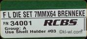 RCBS - Full Length Dies - 7mmx64 Brenneke - 34001
