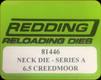 Redding - Neck Sizing Die - 6.5 Creedmoor - 81446
