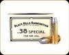 Black Hills - 38 Spec - 158 Gr - Conical Nose Lead - 50ct