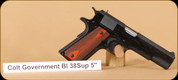 "Colt - 38Super - 1911 - Government Model, Blued, 5"" Model#: O2991"