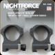 "NIGHTFORCE - XTRM - Ring Set - 1.125"" High - 30mm - Ultralite - 6 Screw - A266"