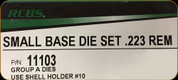 RCBS - Small Base Die Set - 223 Rem - 11103
