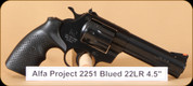 Alfa Proj - 2251 - 22LR - Blued, 4.5""