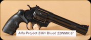 Alfa Proj - 2361 - 22WMR - BlkSyn/Blued Steel, 6""