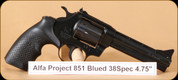 Alfa Proj - 851 - 38Spl - Blued, 4.5""