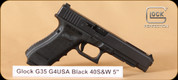"Glock - G35 - 40S&W - Gen4, Black, 5"", 3 10rd Mags, Interchangeable Backstraps - Mfg# UG3530101"