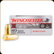 Winchester - 40 S&W - 165 Gr - Win Clean - Brass Enclosed Base - 50ct - WC401