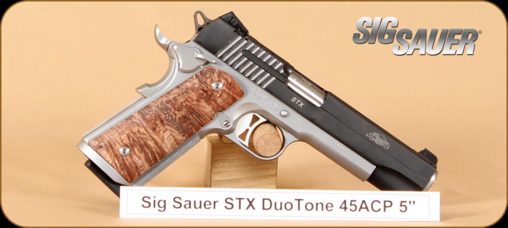 Sig Sauer 45acp 1911 Stx Semi Automatic Pistol Maple Wood