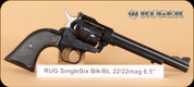 "Ruger - 22LR/22WMR - Single Six - Blk/BL, 6.5"", Adj Sights - 6rd - Mfg# 0622"