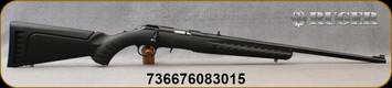 """Ruger - 22LR - American - Black Synthetic/Blued, 22"""", Williams fiber optic front sight, 10/22-style adjustable, """"V"""" slot, folding-leaf rear sight, Mfg# 08301"""